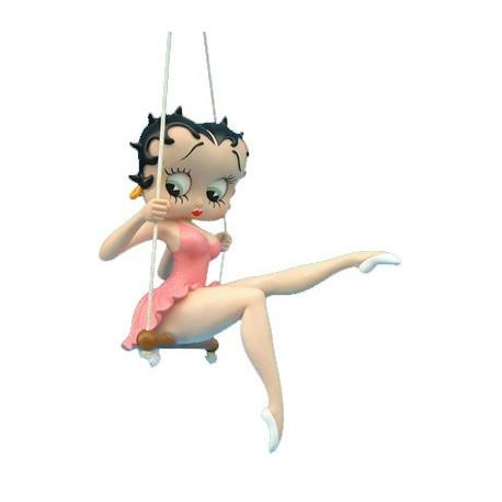 Statuette Betty Boop balancoire