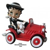 Statuette Betty Boop voiture rouge