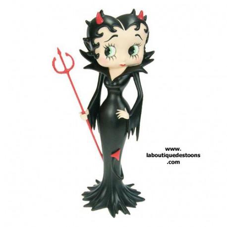 Statuette Betty Boop démon Noir