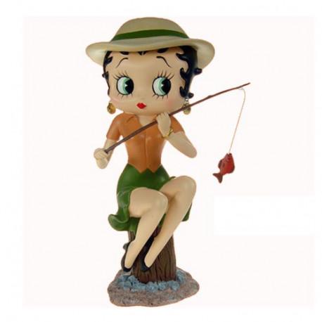 Statuette Betty Boop Pêcheur