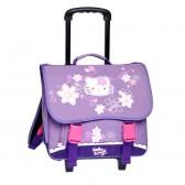 Cartable à roulettes Hello Kitty Violet Trolley 38 CM Haut de gamme