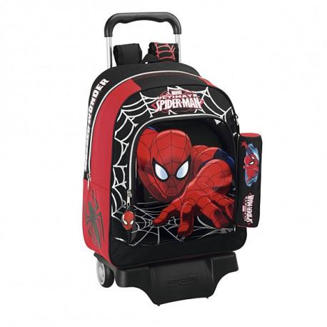 Sac à roulettes Spiderman Ultimate 43 CM Haut de Gamme + Trousse - Cartable