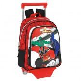 Sac à roulettes Power Rangers 34 CM maternelle