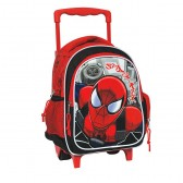 Sac à roulettes trolley maternelle Spiderman Comics 30 CM - Cartable