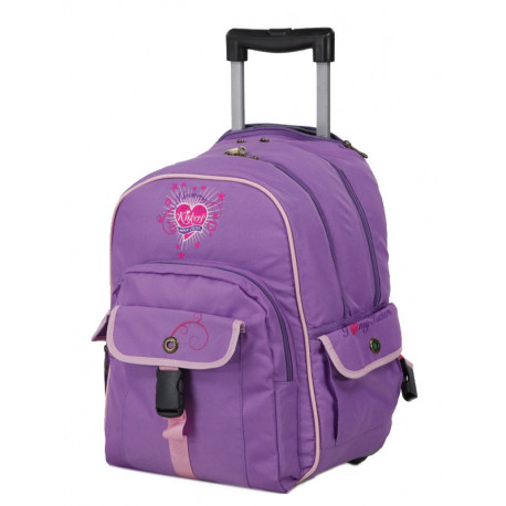 Sac à roulettes Kickers lilas trolley fille 41 CM