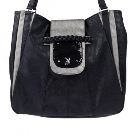 Woman Playboy Sequin large handbag