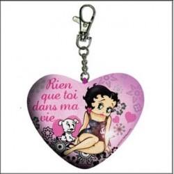 Betty Boop heart key ring