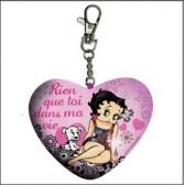 Betty Boop hart sleutelhanger