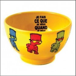 Yellow Bart Simpson Bowl