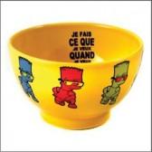 Tazón de fuente amarillo Bart Simpson