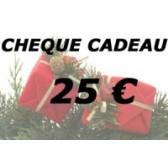 Cheque cadeau 25 €