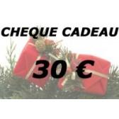 Chèque cadeau 30 €