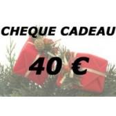 Chèque cadeau 40 €