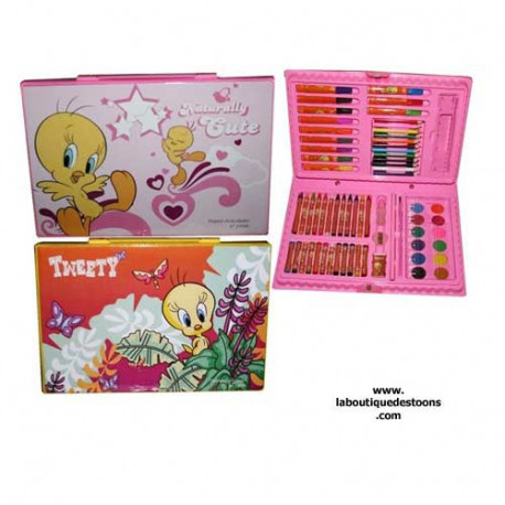 Malette Tweety coloring - color: yellow