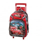 Sac cartable a roulettes Cars maternelle 30 CM - Cartable