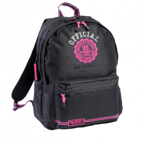 US Marshall black & pink 45 CM high-end backpack