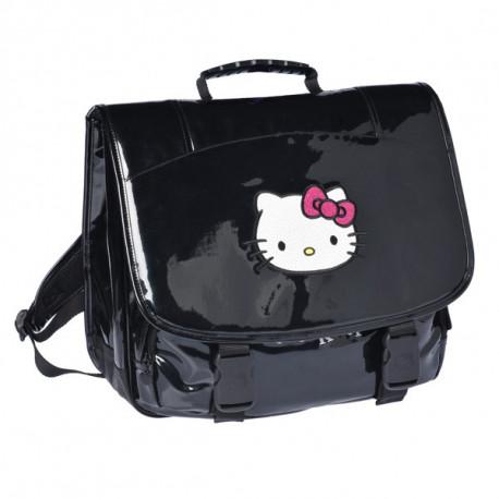 Cartable Hello Kitty Noir Haut de Gamme 38 CM
