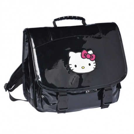 Mochila escolar Hello Kitty negro 38 CM gama alta