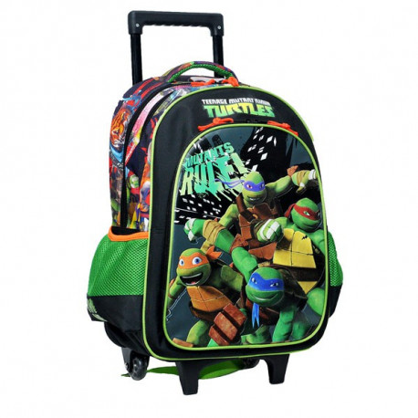 cartable roulettes tortue ninja 43 cm mutant trolley - Cartable Tortue Ninja