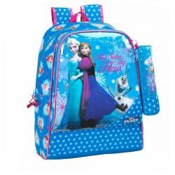 Frozen heart 42 CM high quality + Kit snow Queen backpack