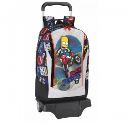 Sac à roulettes Simpson 43 CM Monster Haut de Gamme - Cartable