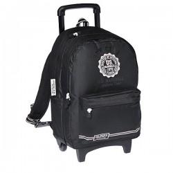 Trolley bag 45 CM US Marshall black and white high - school bag