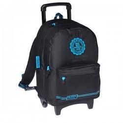 Sac à roulettes 45 CM US Marshall Noir et Bleu Haut de gamme - Cartable