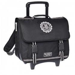 Rolling School Bag US Marshall Black and White 41 CM