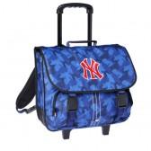 Cartable à roulettes New york Yankees Bleu Trolley 41 CM Haut de gamme