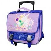 Cartable à roulettes Fée Clochette violet 38 CM