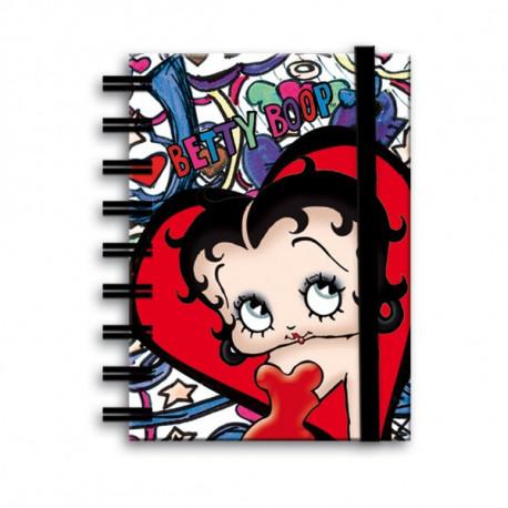 Carnet spirale Betty Boop Lips A6