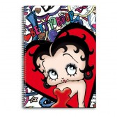Cahier spirale Betty Boop Lips A4
