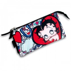 Trousse triple Betty Boop Lips 22 CM