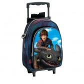 Sac à dos à roulettes maternelle Dragons Titan 37 CM trolley - Cartable