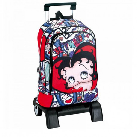 Sac à dos à roulettes Betty Boop Lips 40 CM trolley Haut de Gamme - Cartable