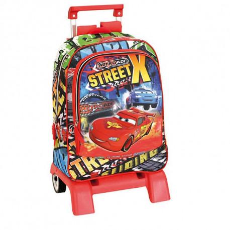 Mochila con ruedas Cars Disney Street 43 CM - Trolley escolar