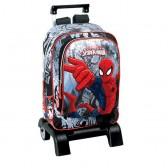 Sac à dos à roulettes Spiderman Ultimate Dark 43 CM trolley Haut de Gamme - Cartable