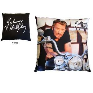 johnny hallyday legend motorcycle cushion. Black Bedroom Furniture Sets. Home Design Ideas