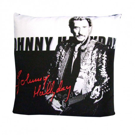Coussin Johnny Hallyday Signature