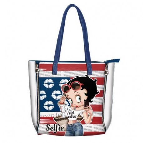 Sac shopping Betty Boop Selfie 37 CM