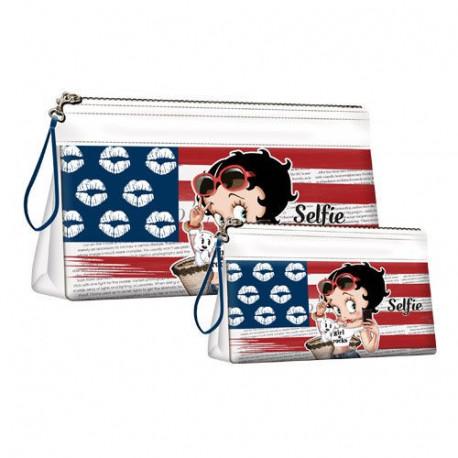 Set of 2 toiletries kits Betty Boop Selfie