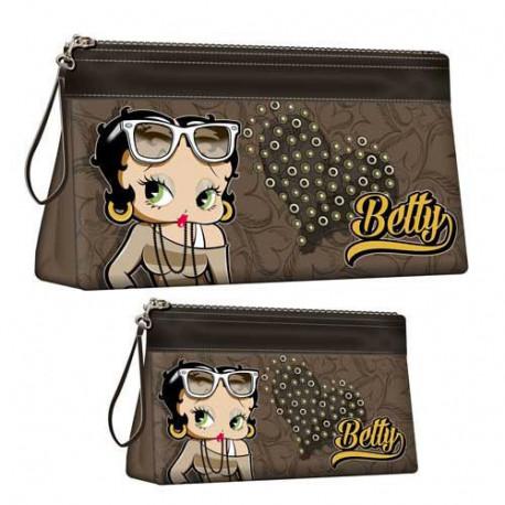 Set of 2 toiletries kits Betty Boop heart
