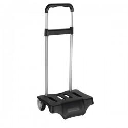 Trolley met wieltjes Rugzak zwart