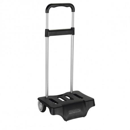 Trolley mit Rollen Rucksack schwarz