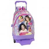 Cartable à roulettes Violetta Neon 43 CM Haut de Gamme Trolley