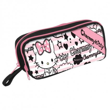 Trousse ovale Charmmy Kitty double zip