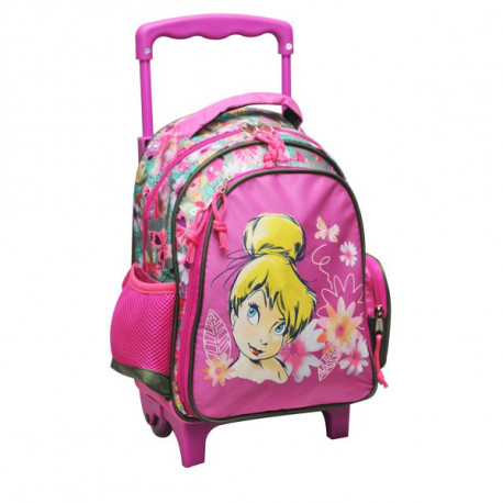 Rolling Maternal Backpack Tinkerbell Flowers 30 CM