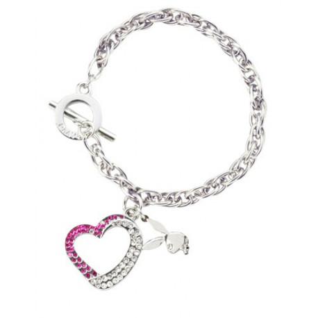 Bracelet Playboy Bunny Glitter rose