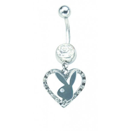 Piercing navel Playboy pierre Crystal and heart