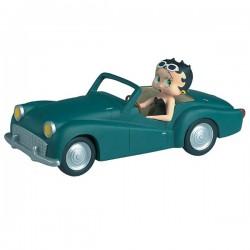 Beeldje Betty Boop blauwe auto 21 CM